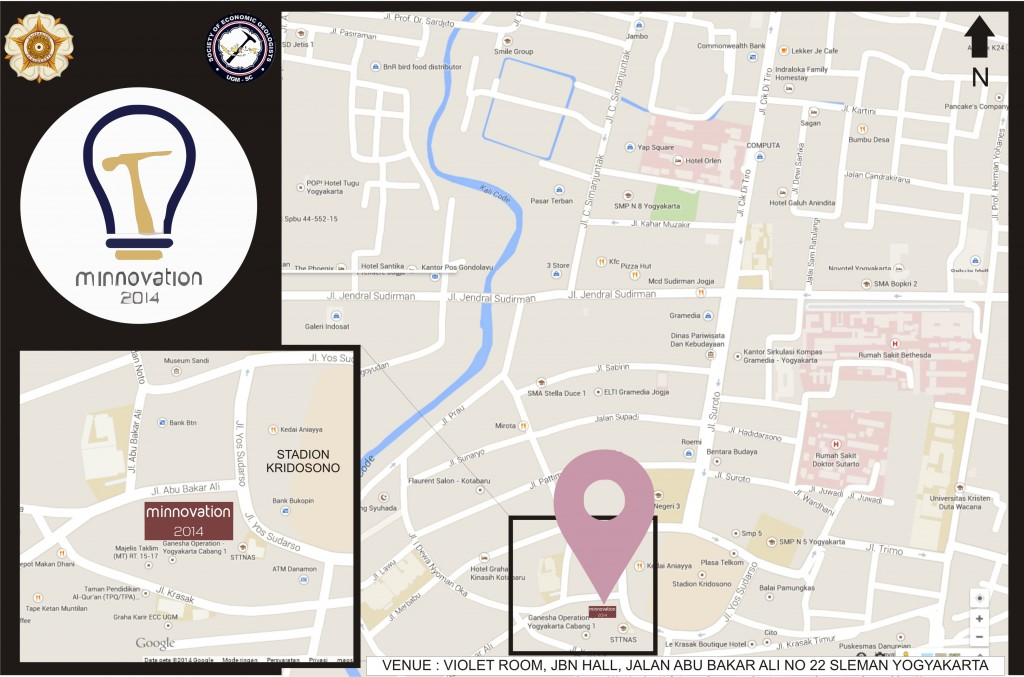Route Map to Violet Room, JBN Hall